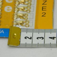 №2 крючки, застежки для одежды Sindtex золотые 24шт (653-Т-0082)