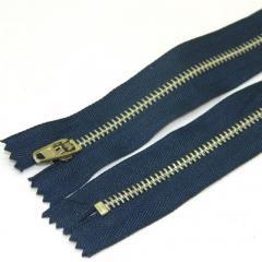 Застежка-молния металлическая 18 см, синяя (серебро) (6-2426-В-099)