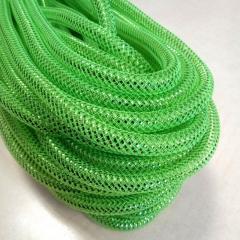 (28-30метров, D-10мм) Регилин трубчатый с люрексом. Цвет - зеленый (657-Л-0497)