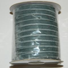 20 Бархатная лента декоративная (1см.) моток 46м., серая (657-Л-0114)