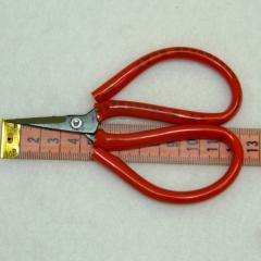 06-Красные ножницы универсальные с большими ручками для подрезки и шитья (653-Т-0209)