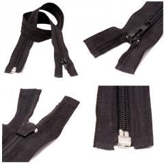 ЧЕРНАЯ спиральная молния для одежды тип 5 - 40см