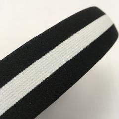 Резинка поясная 3см черная с белой полосой
