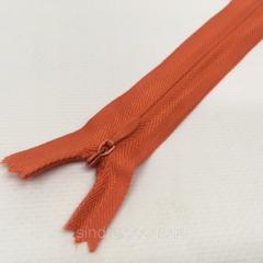Блискавка потайна нероз'ємна колір S-024 помаранчевий темний AZ (ВЕЛ/МП-024)