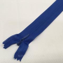 Блискавка потайна нероз'ємна колір S-027 синій ZIP (ВЕЛ/МП-027)