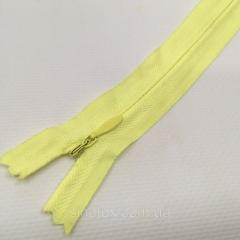 Блискавка потайна нероз'ємна колір S-054 жовтий світлий ZIP (ВЕЛ/МП-054)