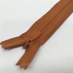 Блискавка потайна нероз'ємна колір S-102 коричневий світлий ZIP (ВЕЛ/МП-102)