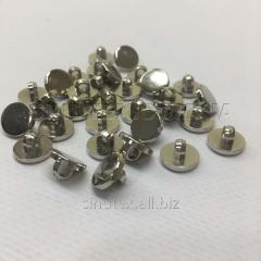 Пуговицы блузочные Ø-10мм цвет: серебро (1-2008-Ю-0008)