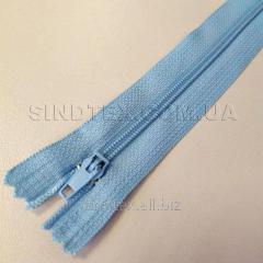 Молния брючная 18 см, голубая (6-2426-В-165)