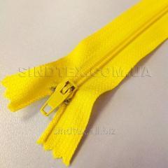 Молния брючная 18 см, желтая (6-2426-В-166)