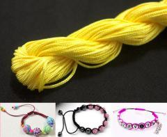 (20метров) Шнур нейлоновый,капроновый (шамбала) 1мм Цвет- Жёлтый (сп7нг-0783)