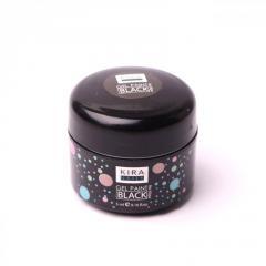 Гель-краска Kira Nails без липкого (черный) 5 мл