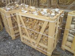 Дрова граб колотые в деревянных ящиках. Длина 250