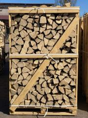Дрова береза, колотые в деревянных ящиках, Длина