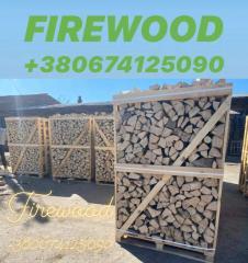Дрова осина,колотые в деревянных ящиках. Длина 250