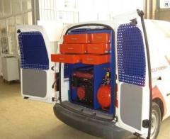Autoservice equipment (mobile car service)