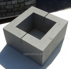 Block concrete Stolbova gray