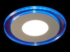 Светодиодная панель LM 496 6W 4500K круг син.