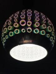 Светильник подвесной 3D RADIAN CHROME круг Е27