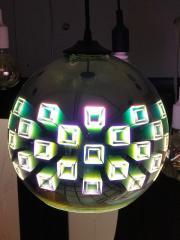 Светильник подвесной 3D SPECTRUM CHROME круг Е27