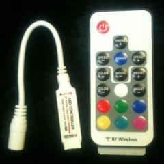 Мини контроллер для LED RGB ленты с радио пультом