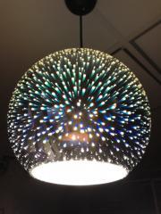 Светильник подвесной 3D QUANTUM CHROME круг Е27