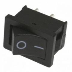 Переключатель двухпозиционный LSW08 малый чёрный