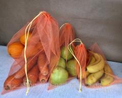 Экомешочки набор 4 шт, фруктовки, многоразовые