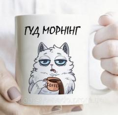 "Чашка с надписью ""Гуд морнинг"""