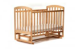 Детская кроватка «ЛАМА» маятник натуральный лак