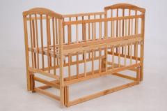 Детская кроватка «ЧАЙКА»натур. лак с откидной боковиной