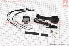 Вело-компьютер 11-функций, проводной, серо-черный