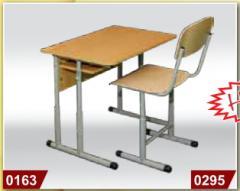 The school school desk (is regulated), a school