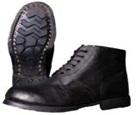 Ботинки юфтевые с кирзовыми берцами, на гвоздях
