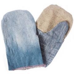 Рукавицы джинсовые с двойным наладонником из