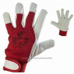 Перчатки рабочие кожаные козья кожа мягкие р. 10,