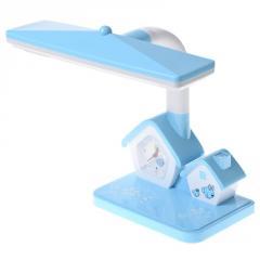 TP-008 BL Настольная лампа с часами для детской