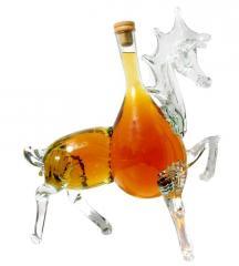 Бутылка стеклянная сувенирная