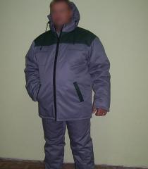 He jacket is man's winter