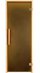 Дверь для бани и сауны Tesli 190 x 70 тон бронза