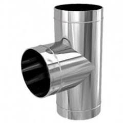 Heat insulating tees for chimneys