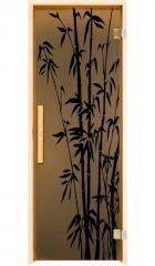 Дверь для бани и сауны Бамбуковый лес 190*70.