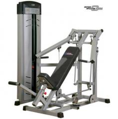 The exercise machine, Press at an angle up,