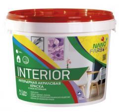 Интерьерная акриловая краска сухое стирание Interior Nano farb 14 кг