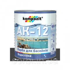 Краска для бассейнов АК-12 0.9