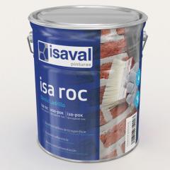 """Гидроизолирующий фасадный лак Isaval Иза-Рок 0,75 л прозрачный с эффектом """"Мокрого камня"""""""