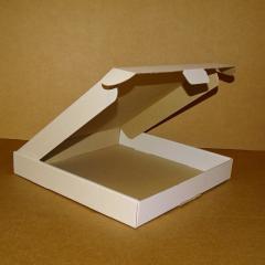 Коробка самосборная белая 280х280х40