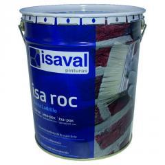 Лак для камня Иза-Рок 16л ISAVAL фасадный гидроизоляционный «мокрый эффект»