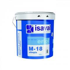 Матовая акриловая водоразбавляемая краска для стен и потолков в жилих помещениях M18 ОЛИМПИЯ 15л до 150 м2