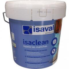 Изаклин - особо стойкая краска к пятнам и загрязнениям, без запаха ISAVAL 4л до 48м2